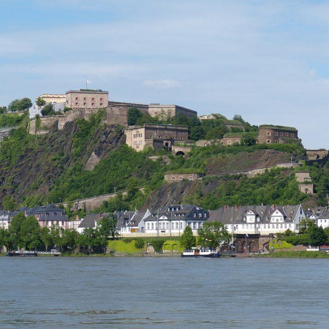 Blick auf die Festung Ehrenbreitstein, immer ein Auslug wert.